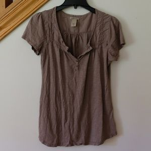 Ruff Hewn Women's Short Sleeve Tunic - Brown/Taupe